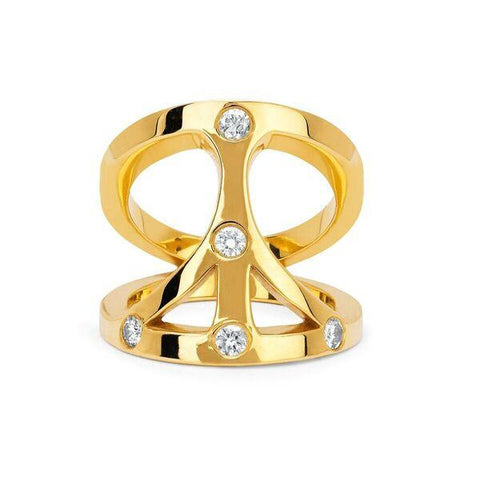 NEW! Five Diamond Peace  Pinky Ring
