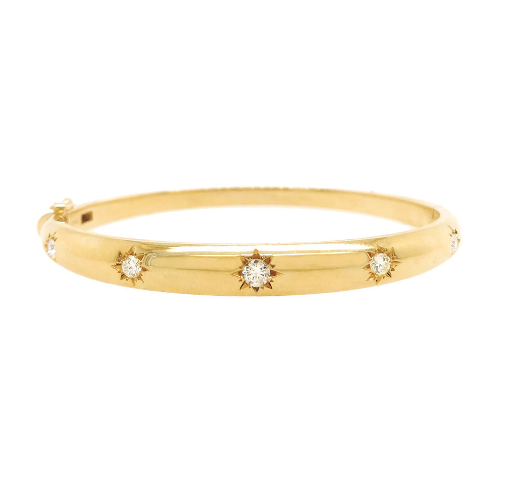 Star Set Diamond Bangle Star Set Diamond Bangle