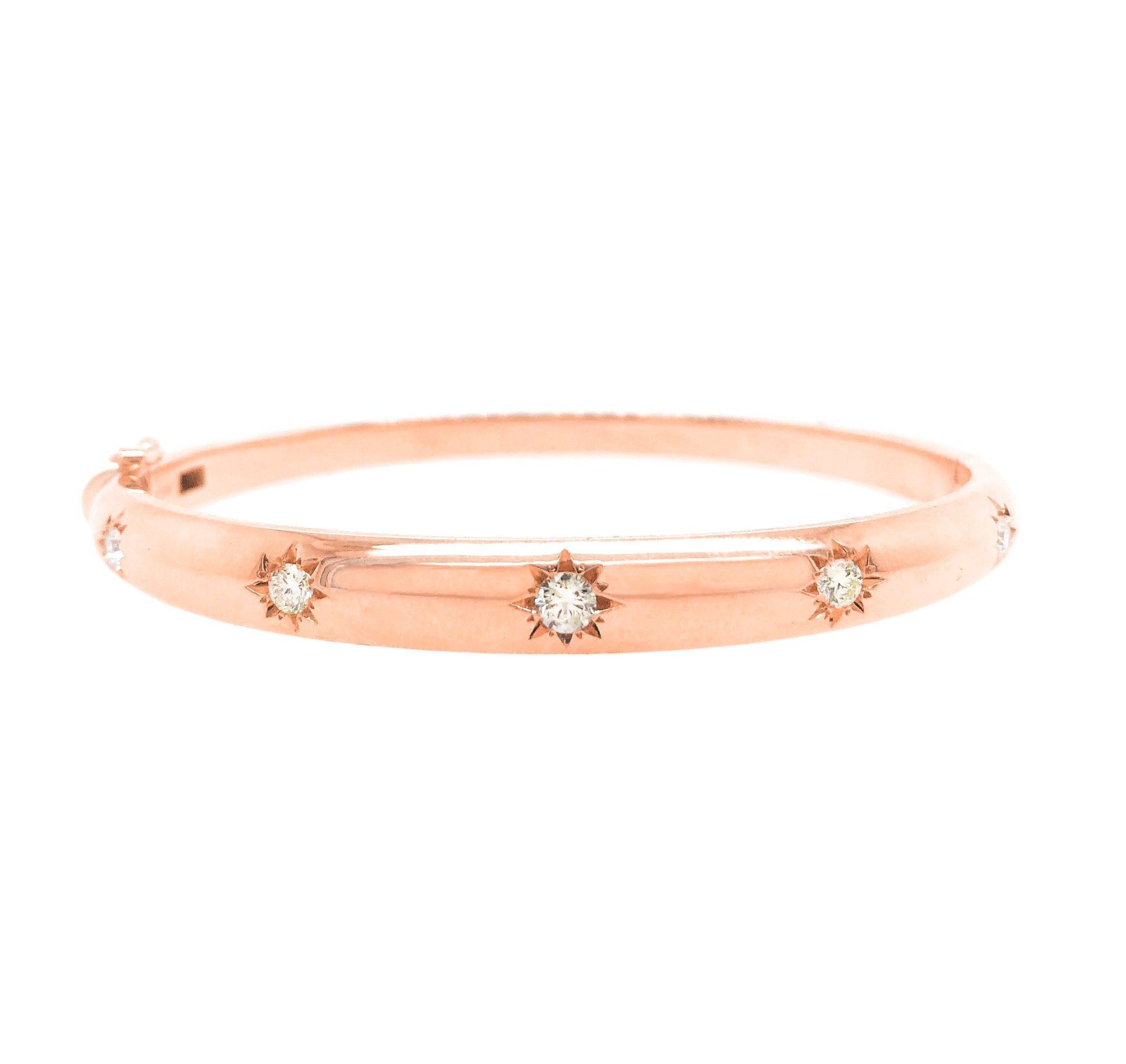 Star Set Diamond Bangle