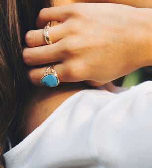 One-of Sleeping Beauty Turquoise Ring