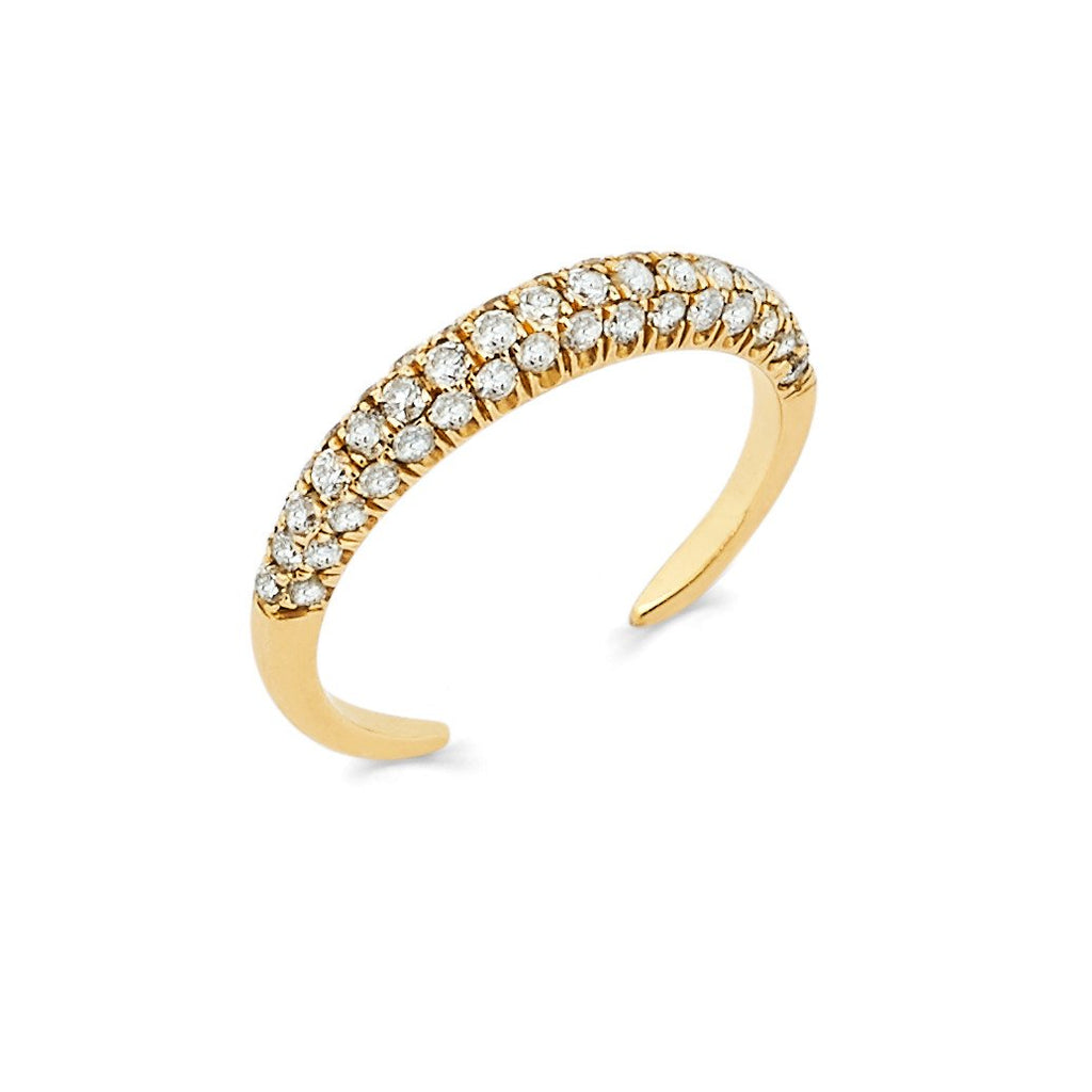 Micro Pavé Diamond Band Yellow Gold