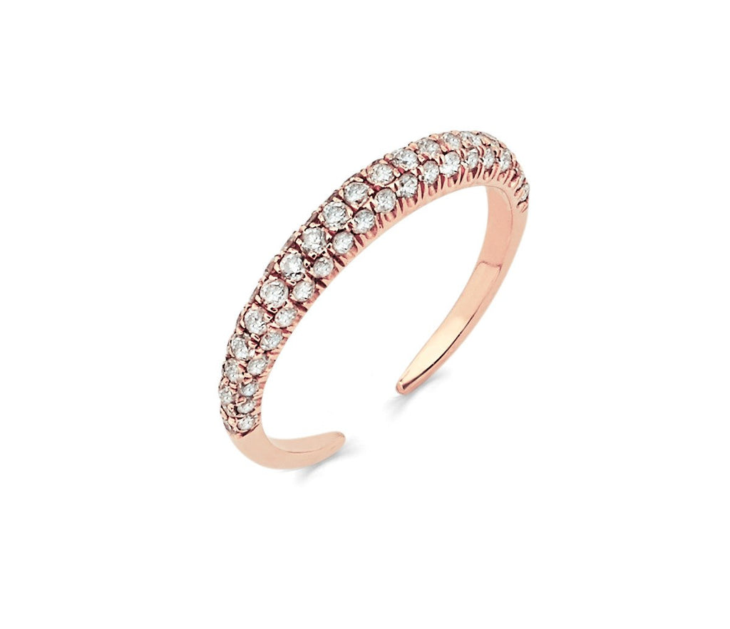 Micro Pavé Diamond Band Large Rose Gold