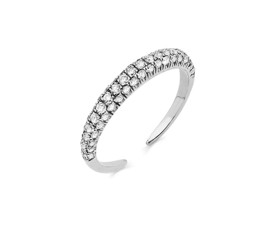 Micro Pavé Diamond Band Large White Gold