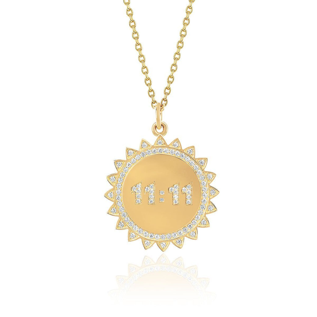 11:11 Sunshine Necklace with Pavé Diamonds 11:11 Sunshine Necklace with Pavé Diamonds