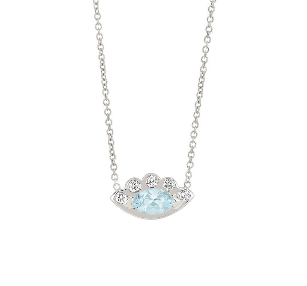 Angel Eye Aquamarine Necklace
