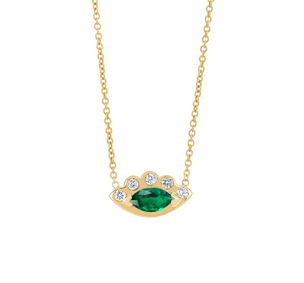 Angel Eye Emerald Necklace