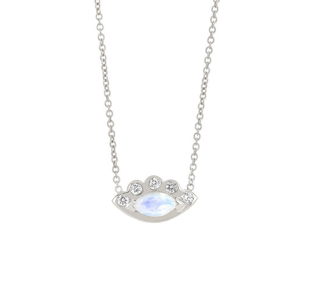 Angel Eye Moonstone Necklace