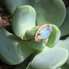 NEW! One-of-a-kind Angel Eye Moonstone Ring