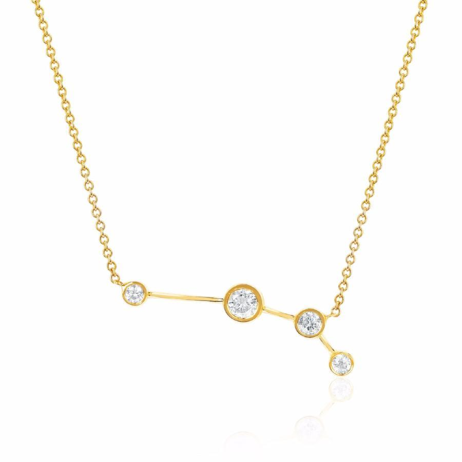 Aries Constellation Necklace Yellow Gold