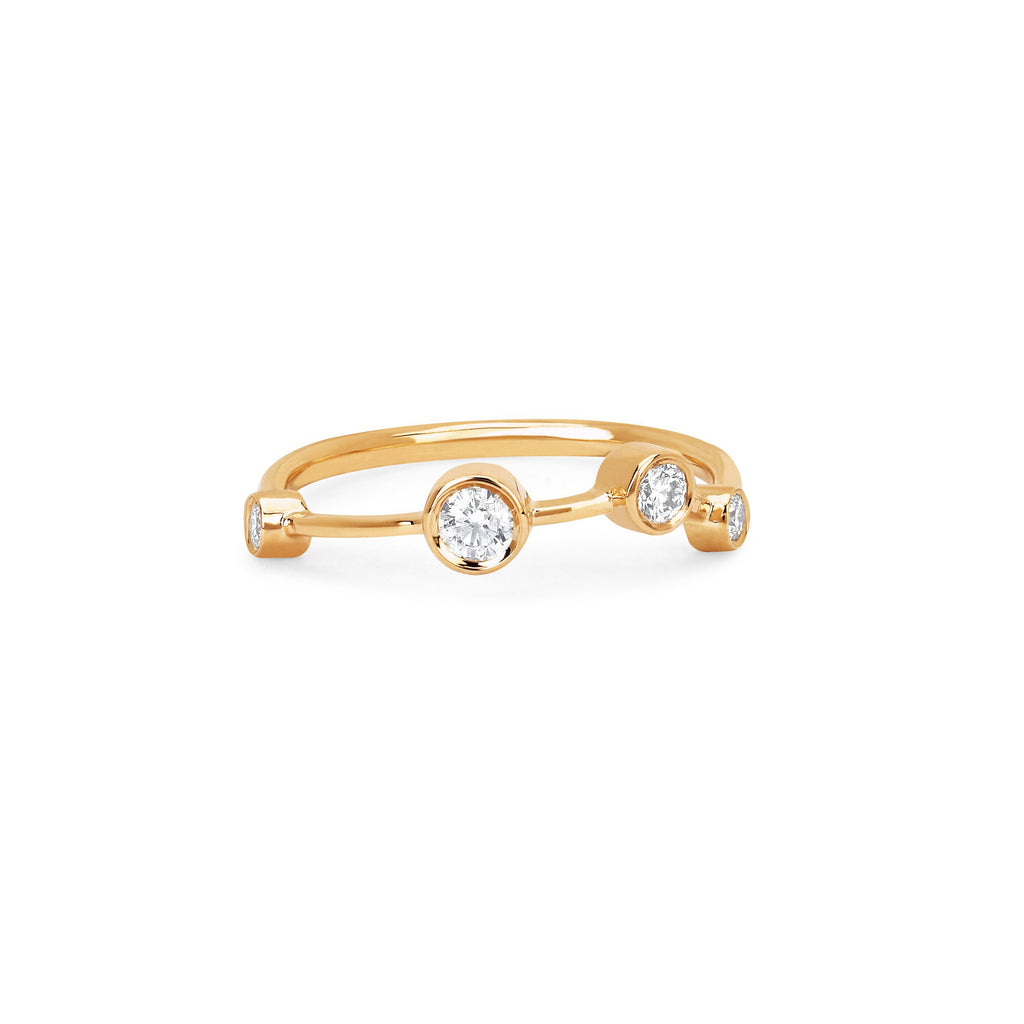 Aries Constellation Ring Yellow Gold