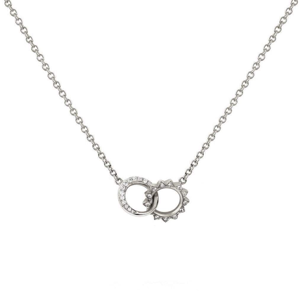 Baby Pavé Diamond Interlocking Unity Necklace