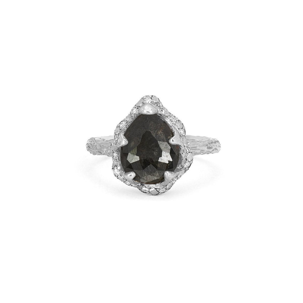 NEW! Baby Queen Water Drop Black Diamond Ring with Sprinkled Diamonds NEW! Baby Queen Water Drop Black Diamond Ring with Sprinkled Diamonds