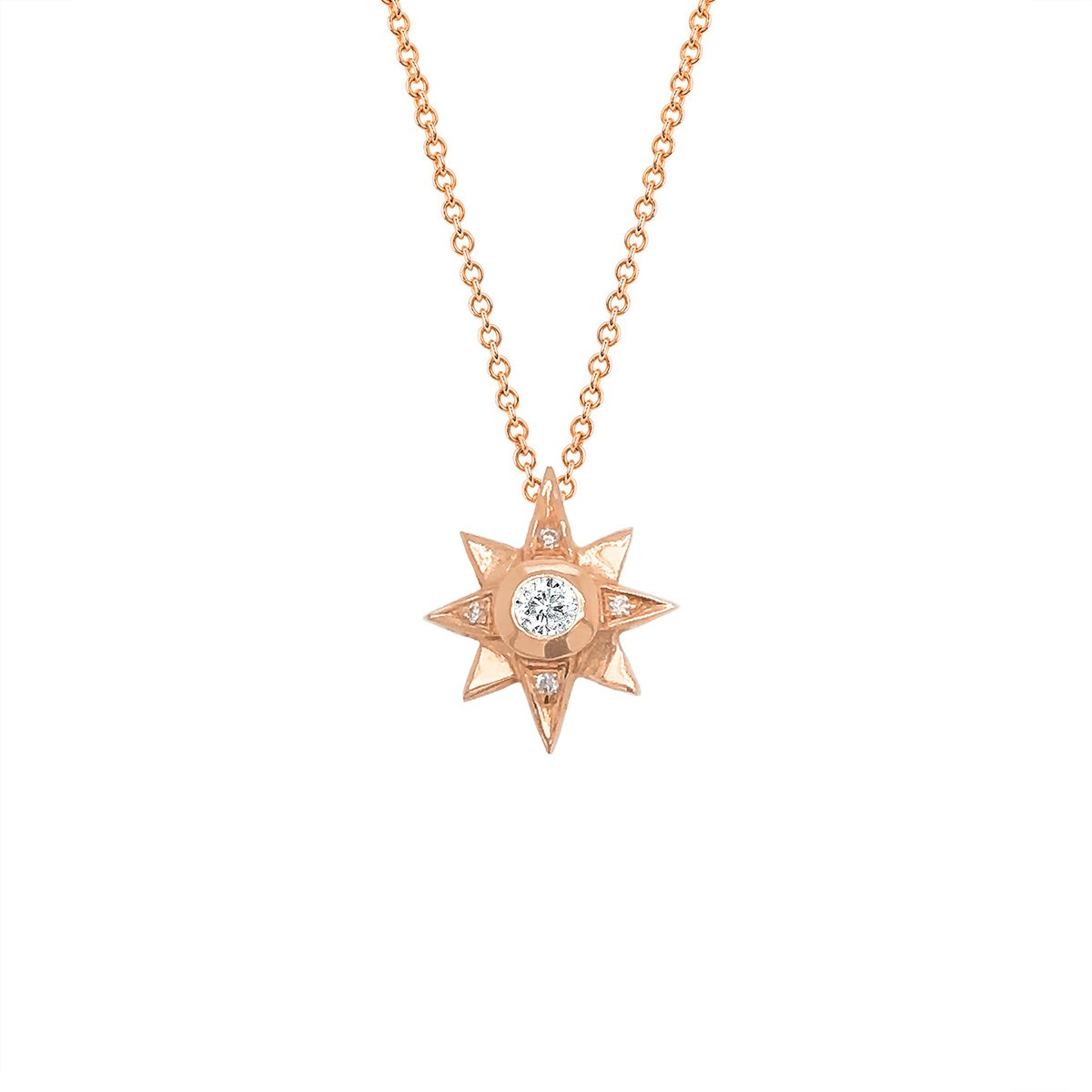 North Star Diamond Necklace