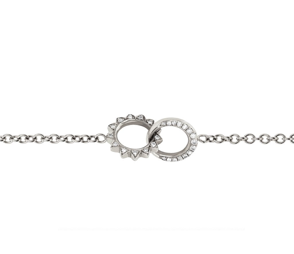Baby Pavé Diamond Interlocking Unity Bracelet