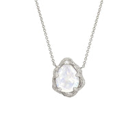 Baby Queen Water Drop Moonstone Solitaire Necklace Baby Queen Water Drop Moonstone Solitaire Necklace