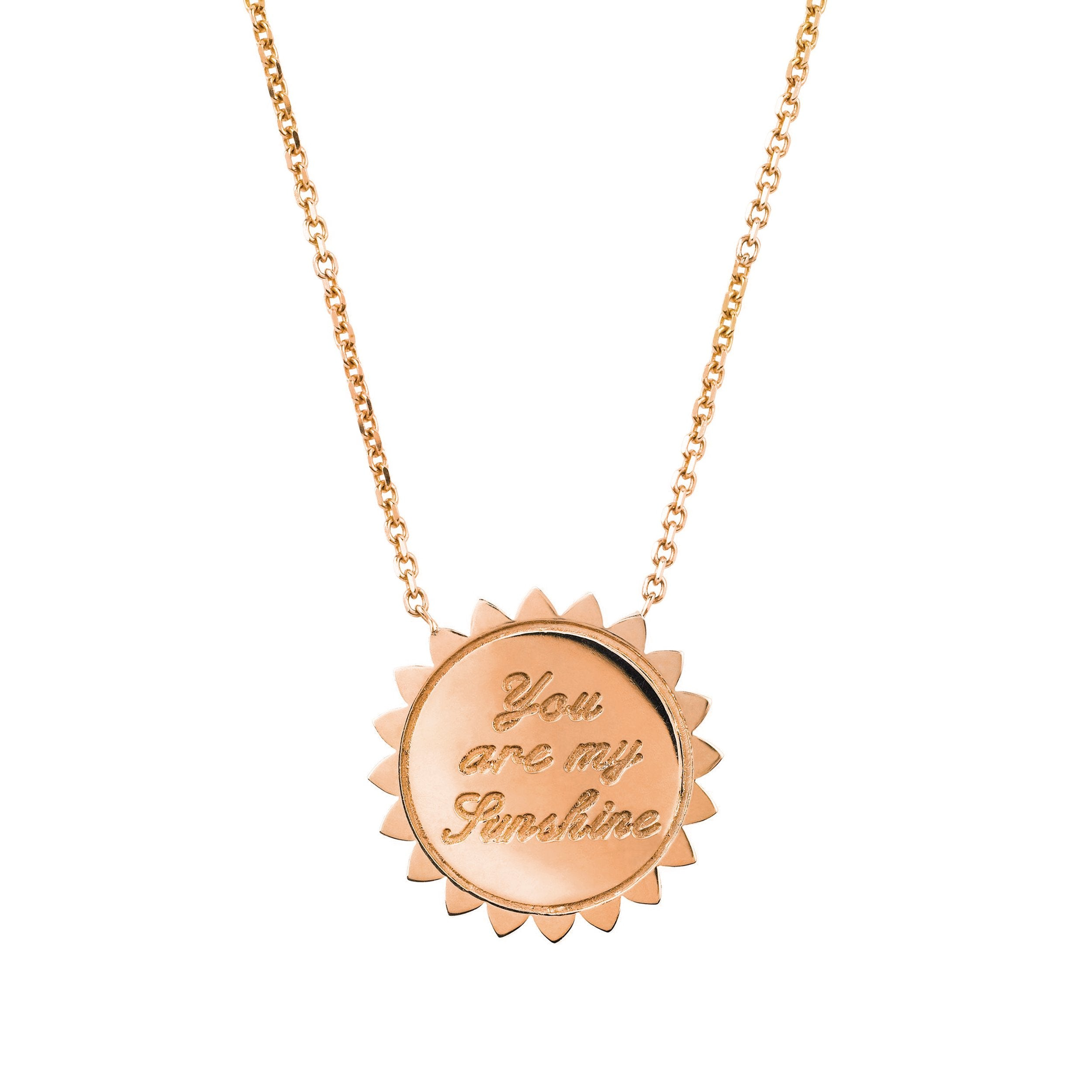 "Custom ""You are My Sunshine"" Medium Necklace with Diamonds"