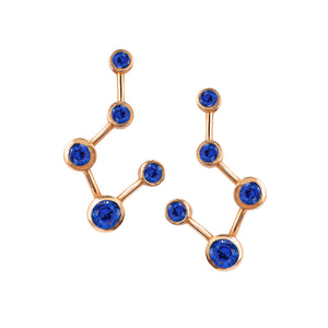 NEW! Big Dipper Constellation Sapphire Earrings
