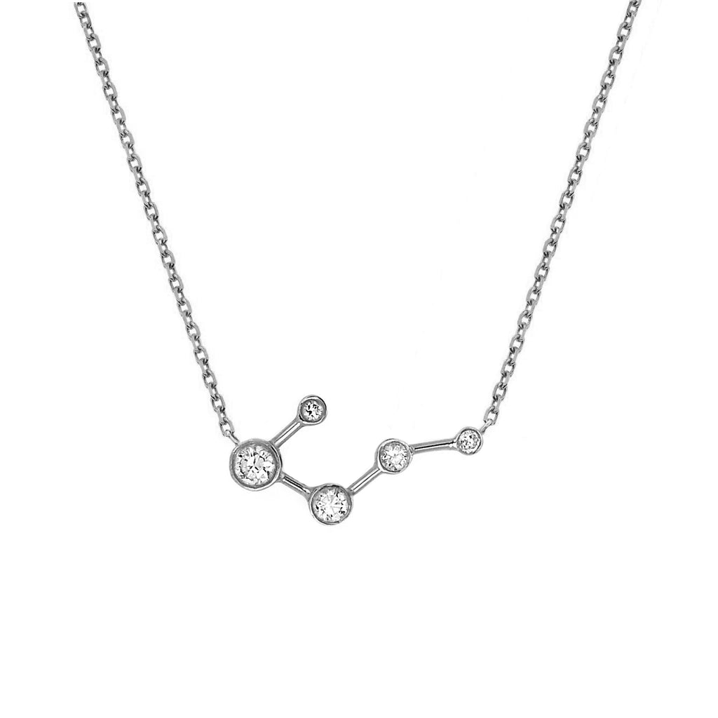Big Dipper Diamond Constellation Necklace White Gold