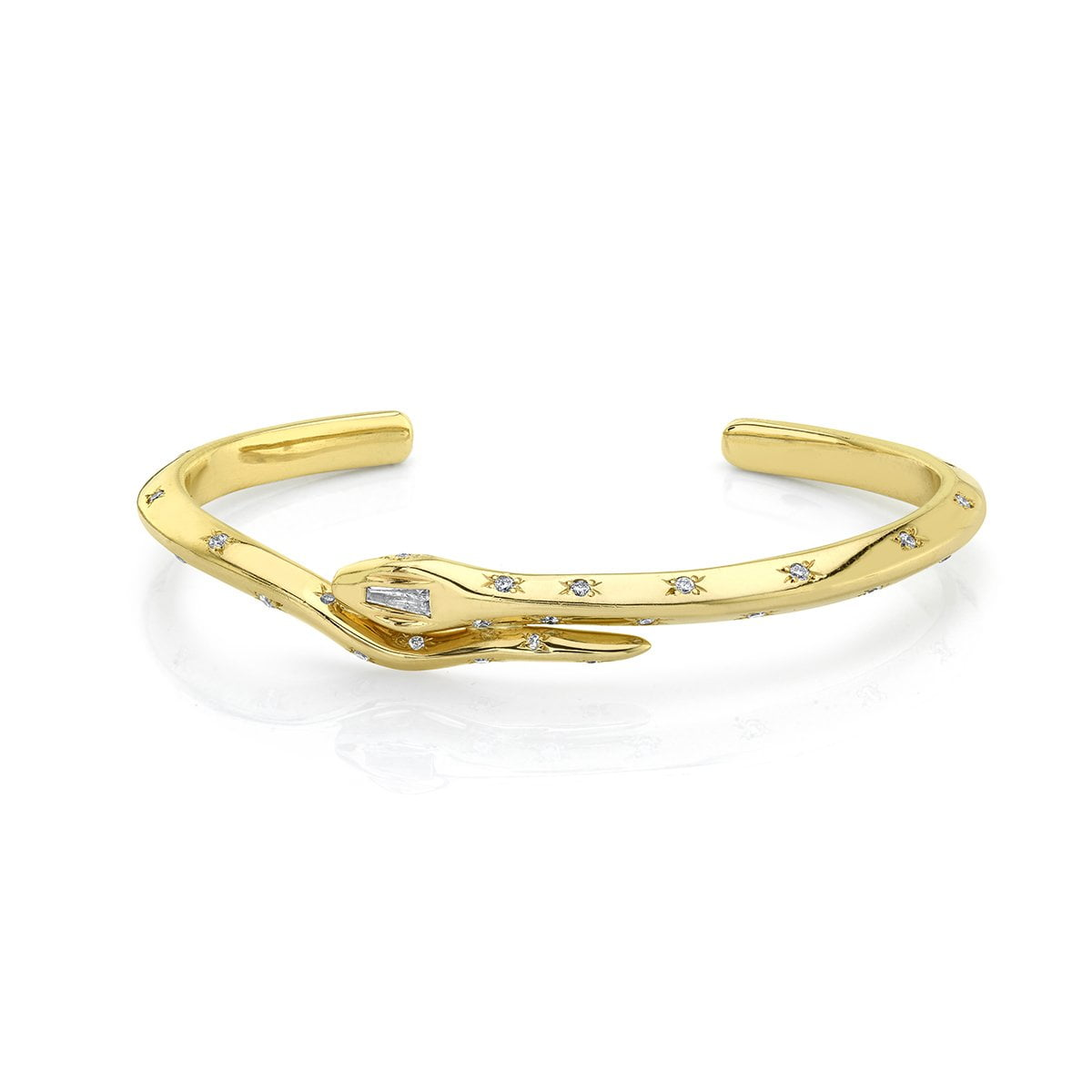 NEW! Kundalini Snake Cuff with Star Set Diamonds