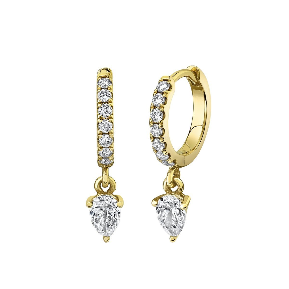 NEW! Diamond Water Drop Goddess Hoops