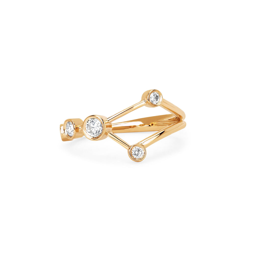 Cancer Constellation Ring Yellow Gold
