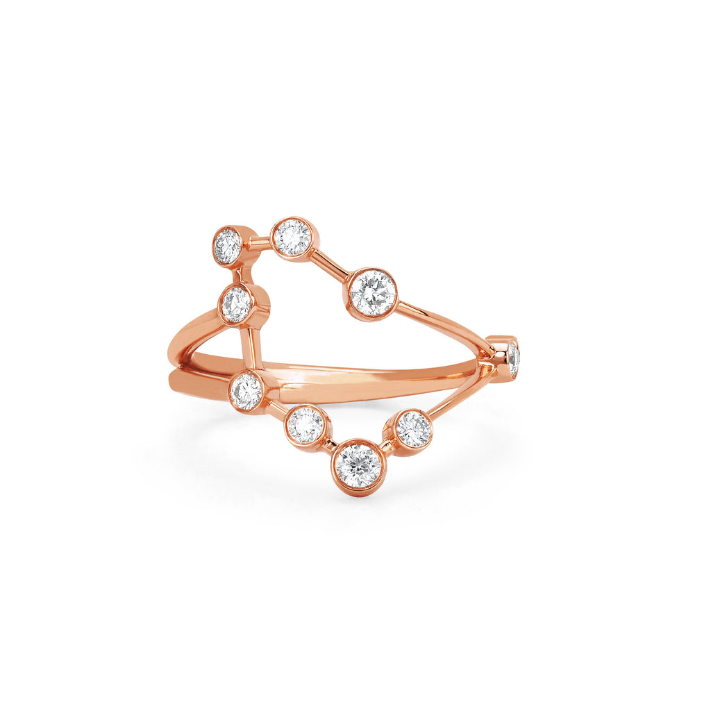Capricorn Constellation Ring Rose Gold
