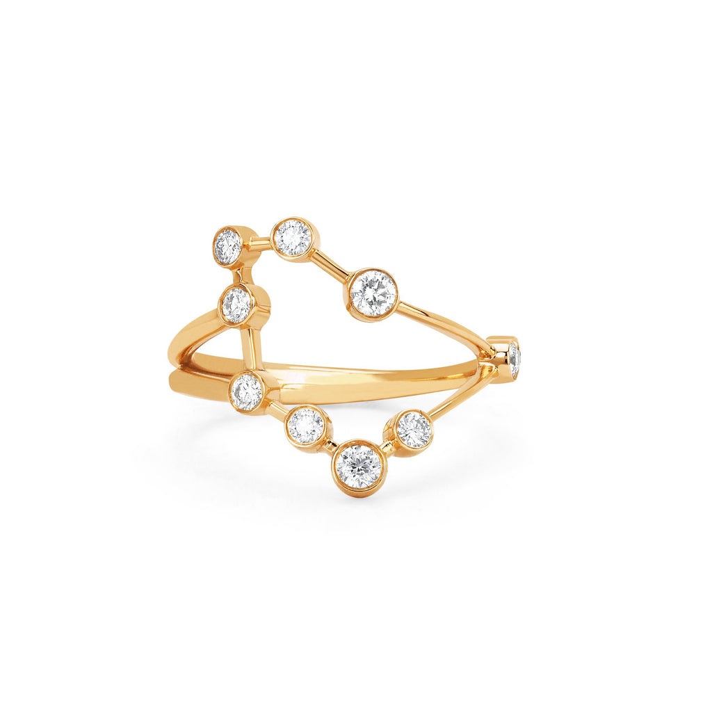 Capricorn Constellation Ring Yellow Gold