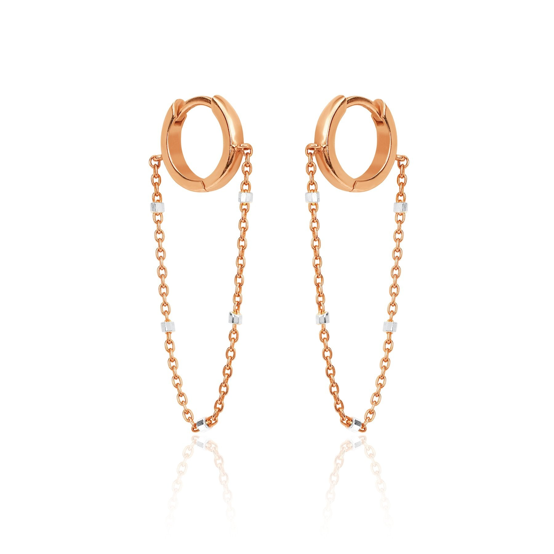 Solid Mini Goddess Chain Earrings