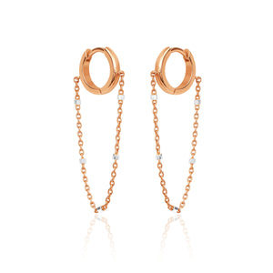 NEW! Solid Mini Goddess Chain Earrings
