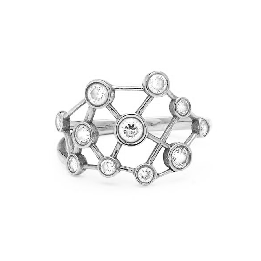 Diamond Constellation Ring White Gold