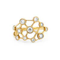 Diamond Constellation Ring Yellow Gold