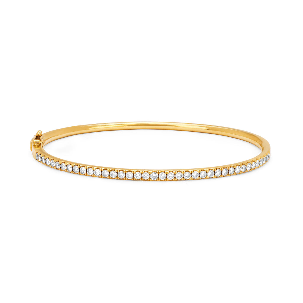 38 Diamond Bangle Yellow Gold