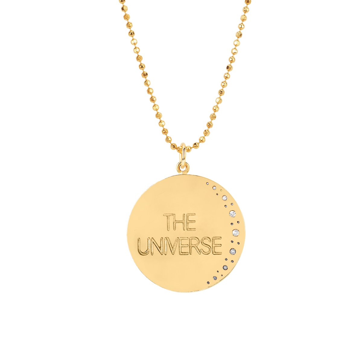Classic Trust the Universe Moon Necklace