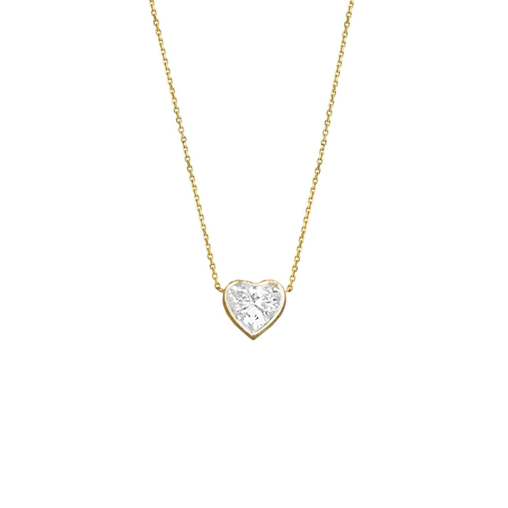 Heart of Light Diamond Necklace Yellow Gold