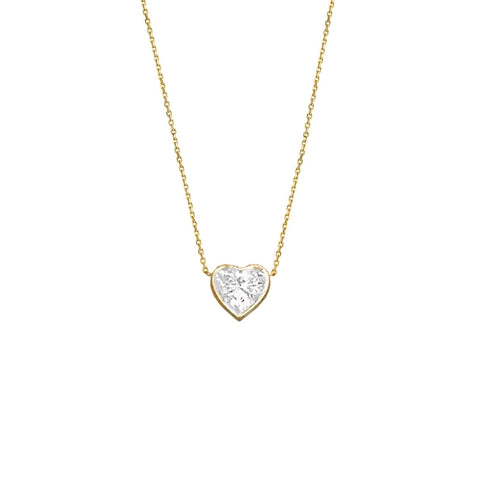 New! Heart of Light Diamond Necklace