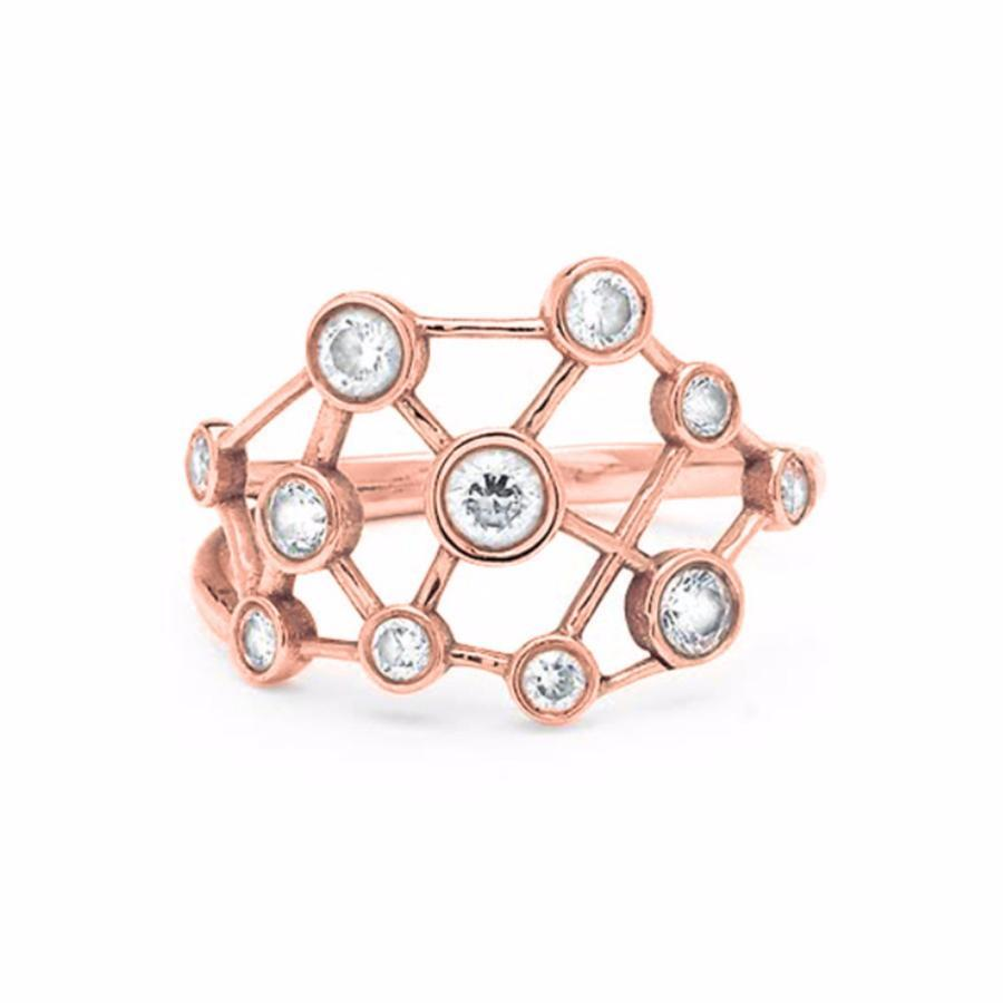 Diamond Constellation Ring Rose Gold
