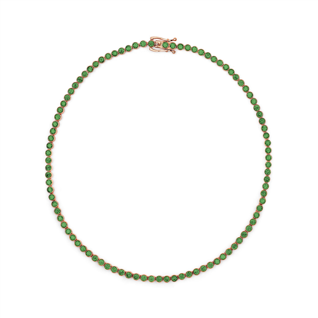 Emerald Infinity Choker Rose Gold