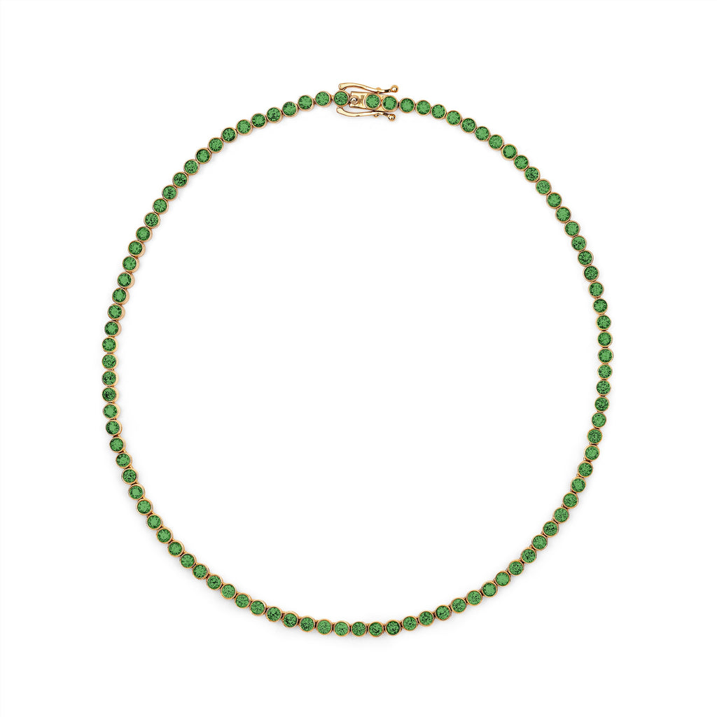 Emerald Infinity Choker Yellow Gold