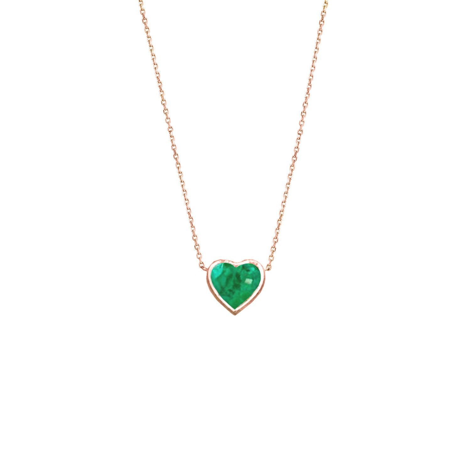 New floating heart shaped emerald necklace logan hollowell jewelry floating heart shaped emerald necklace aloadofball Gallery
