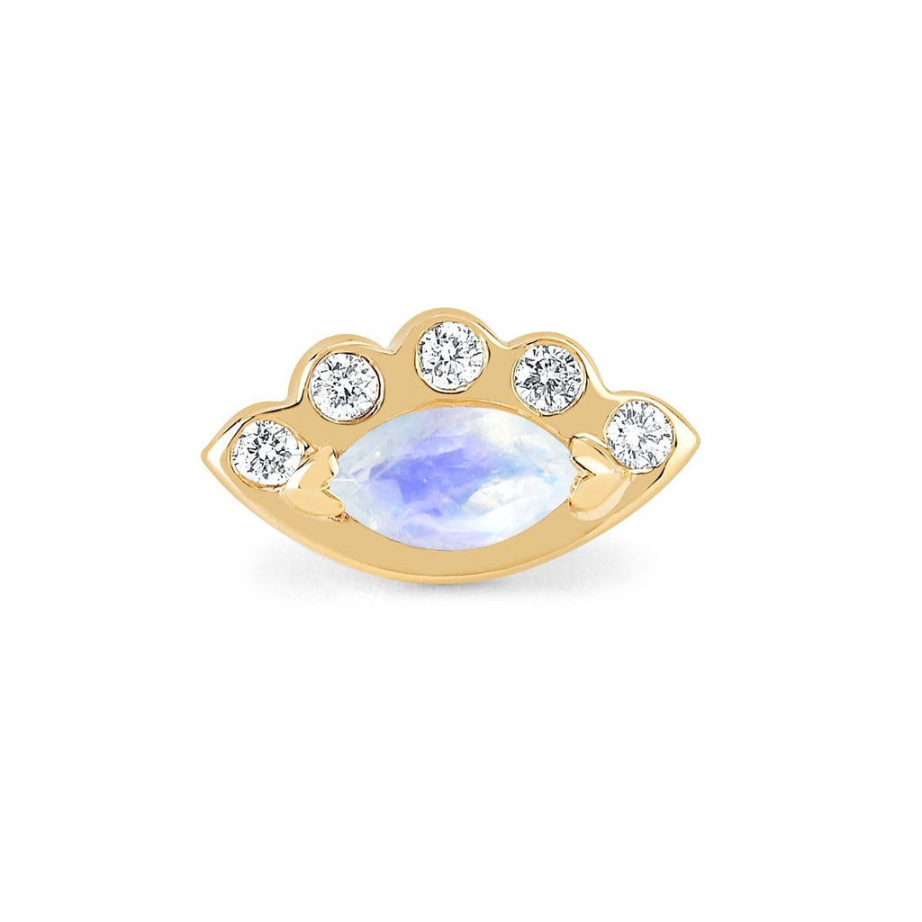 NEW! Angel Eye Moonstone Studs NEW! Angel Eye Moonstone Studs