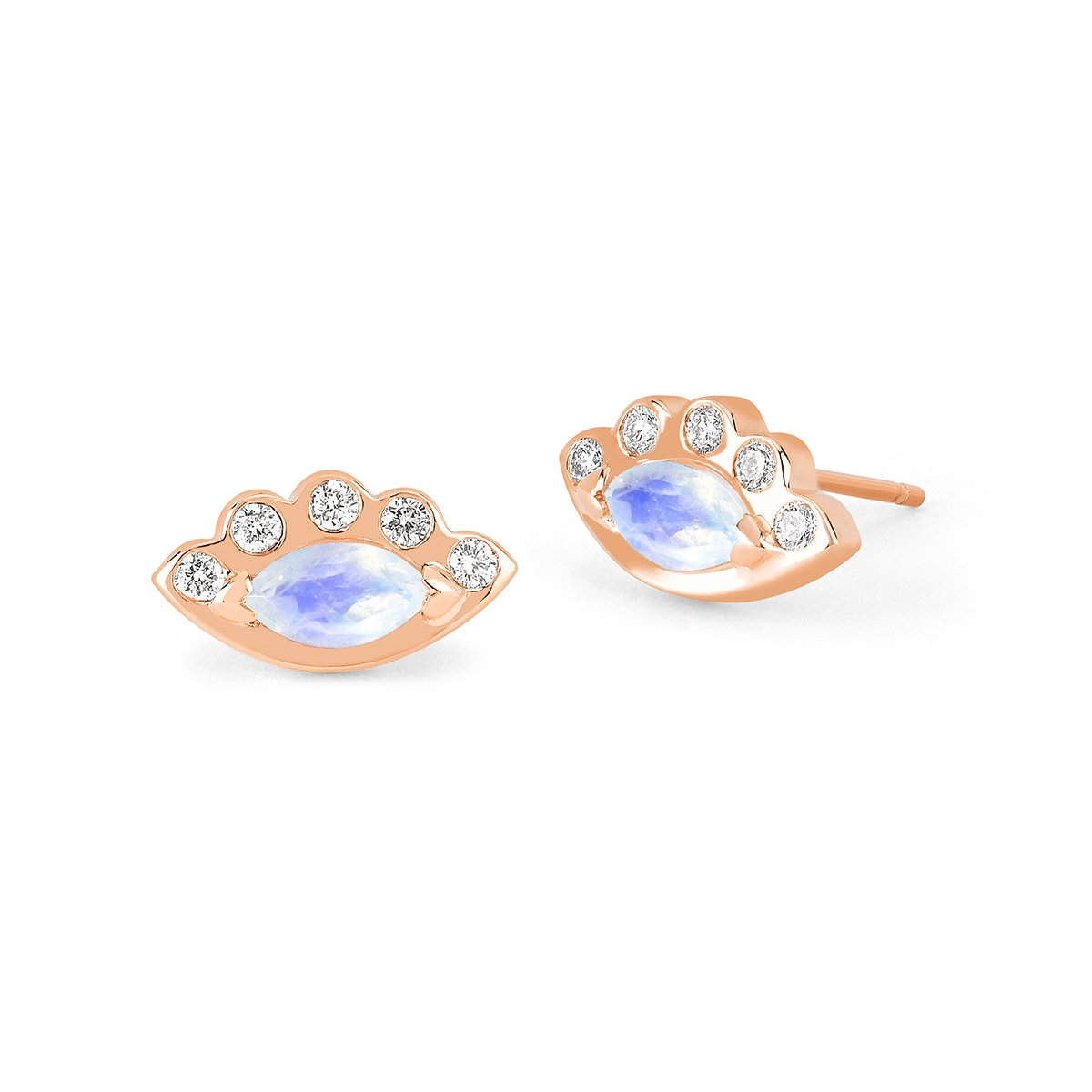 Angel Eye Moonstone Studs