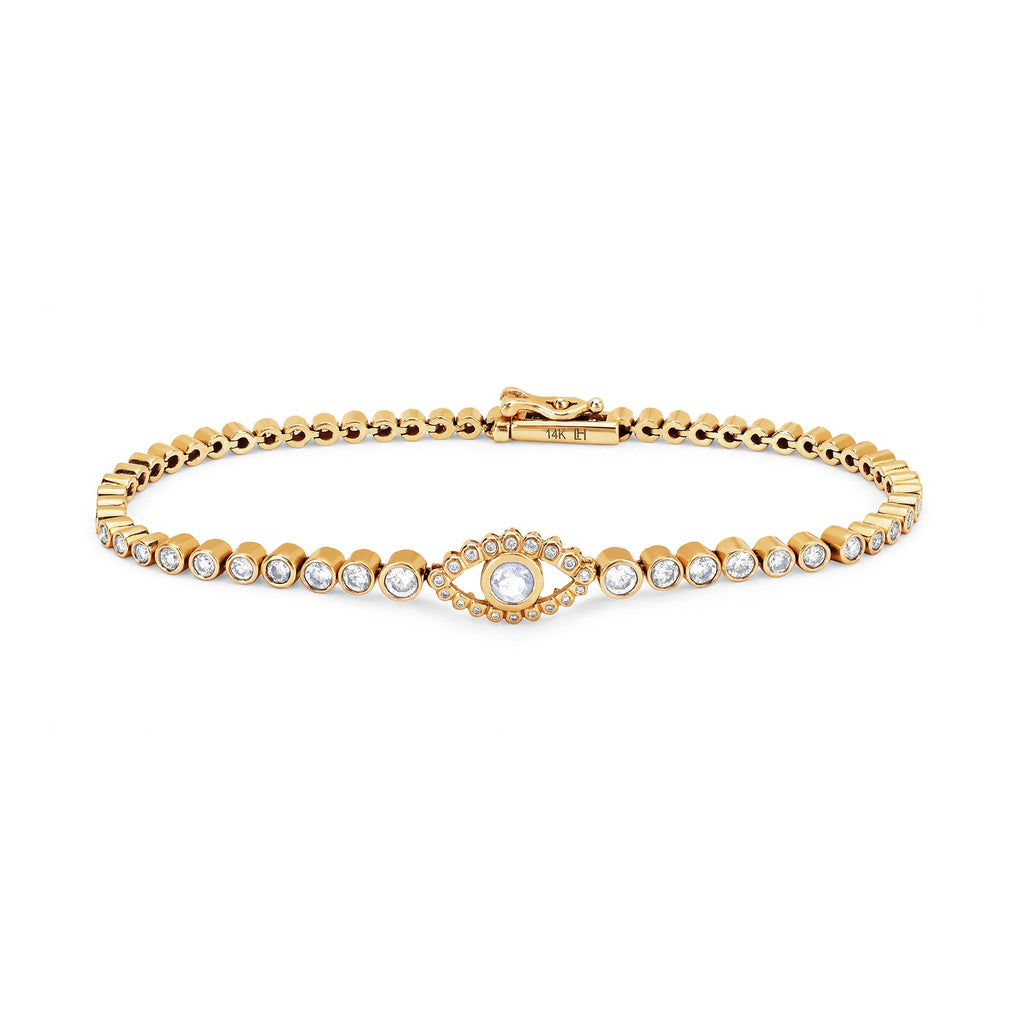 Third Eye Infinity Bracelet Yellow Gold