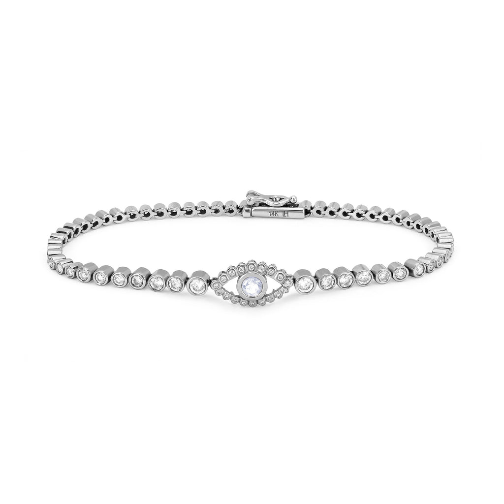 Third Eye Infinity Bracelet White Gold