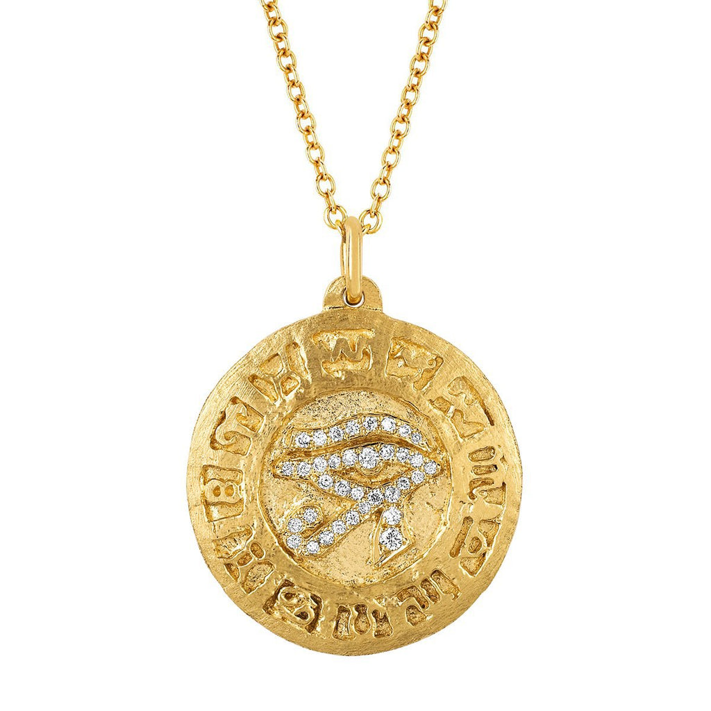 18k Eye of Horus Coin Pendant 18k Eye of Horus Coin Pendant