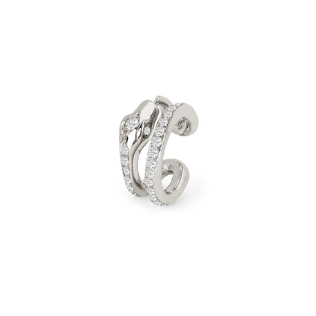 Kundalini Snake Coil Ear Cuff with Pavé Diamonds Kundalini Snake Coil Ear Cuff with Pavé Diamonds