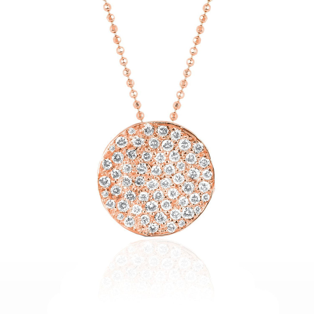 Full Moon Phase Coin Necklace Rose Gold