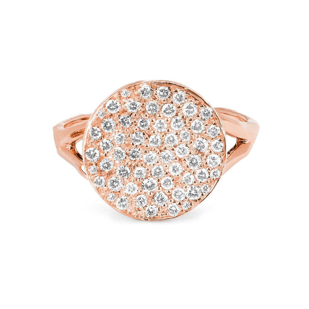 Full Moon Phase Coin Ring Rose Gold