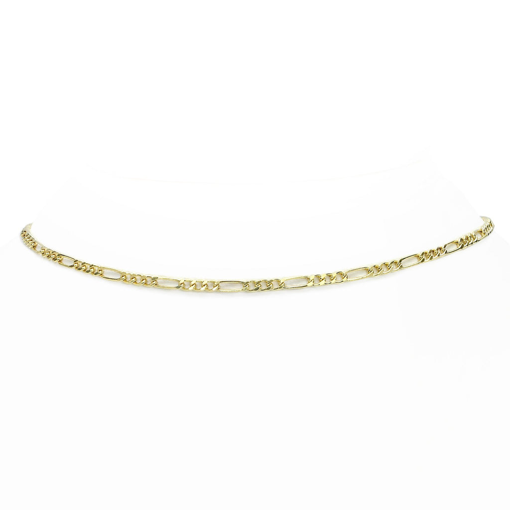 Figaro Choker Yellow Gold