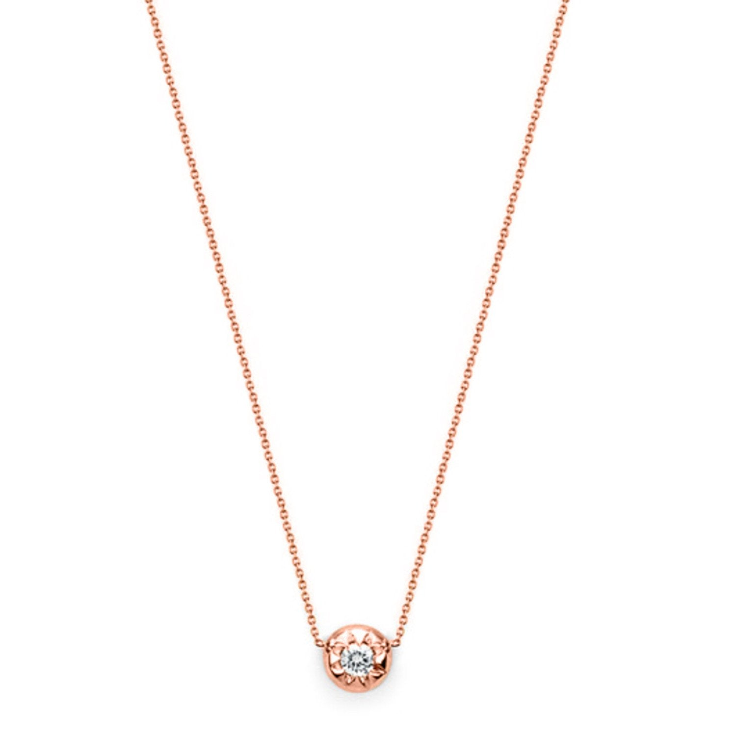 Star Set Diamond Necklace