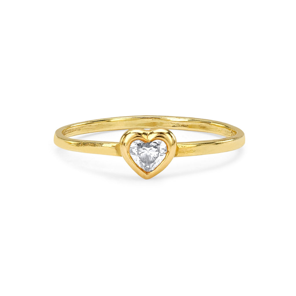 Heart of Light Stacking Ring Yellow Gold